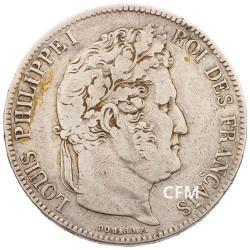 5 Francs Argent Louis Philippe I Tête Laurée