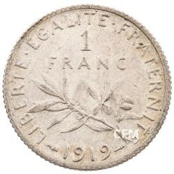 1919 - 1 Franc Argent - type Semeuse IIIeme République