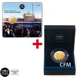 Lot de 2 Euro BU + 2 Euro BE 2019 - Chute du Mur de Berlin