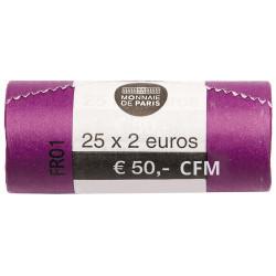 Rouleau de 25 x 2 Euro France 2019