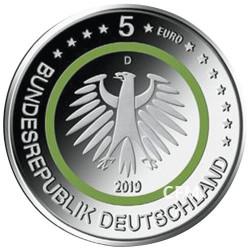 5 Euro Allemagne 2019 - Zone tempérée