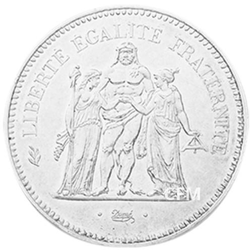 50 Francs Argent Hercule Vème République 1980