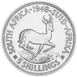 5 Shillings Argent Afrique du Sud 1948-1950
