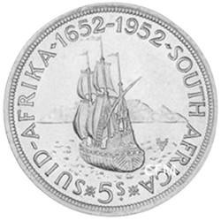 5 Shillings Argent - Afrique du Sud 1952