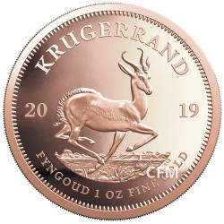 1 Krugerrand Or Afrique du Sud BE 2019