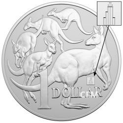 1 Dollar Argent Australie BU 2019 - Meute de kangourous