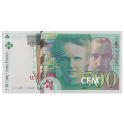 Billet 500 Francs Pierre et Marie Curie 2000
