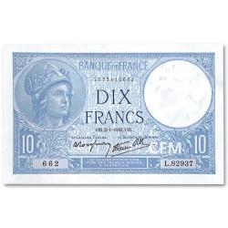 Billet 10 Francs Minerve