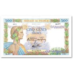 Billet 500 Francs La Paix