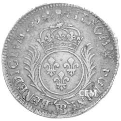 34 Sols Argent de Strasbourg aux palmes Louis XIV
