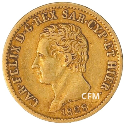 20 Lires Or Sardaigne - Charles Felix