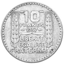 10 Francs Argent Turin 1937