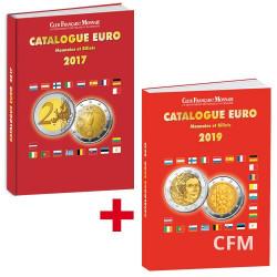 Le catalogue Euro 2019  Monnaies etBillets + le catalogue Euro 2017 OFFERT