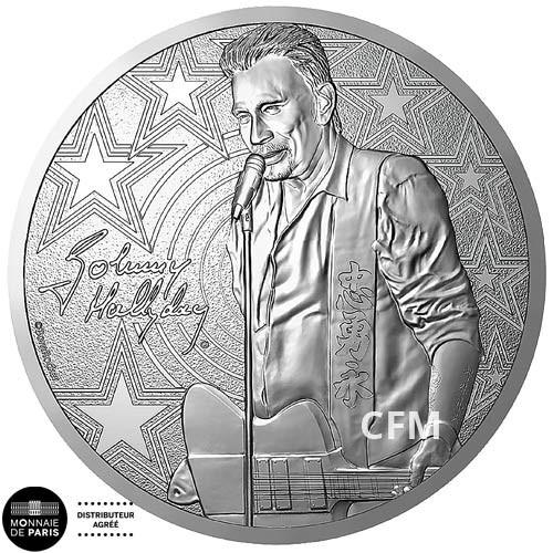 Médaille Guitare Johnny Hallyday 2019