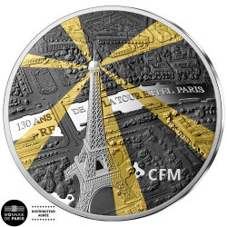 50 Euro Argent France BE 2019 - Tour Eiffel