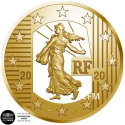 50 Euro Or France BE 2020 Semeuse - nouveau franc