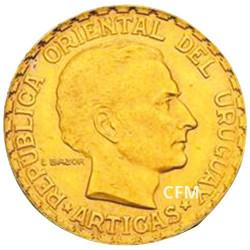 5 Pesos Or Uruguay 1930