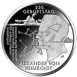 20 Euro Argent Allemagne BU 2019 - Alexander von Humboldt