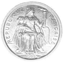 50 Centimes CFP Polynésie 1965 - Liberté assise