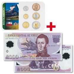 Lot des monnaies Chili