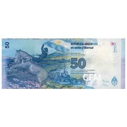 Billet 50 Pesos Argentine 2015 - Défense de la souveraineté nationale