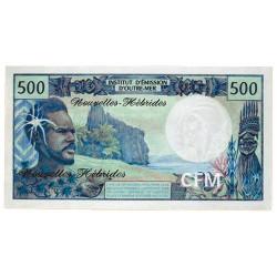 Billet 500 Francs Nouvelles Hébrides 1970-1980
