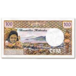 Billet 100 Francs Nouvelles Hébrides 1970-1977