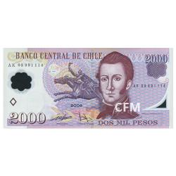 Billet 2 000 Pesos Chili 2018
