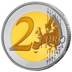 2 Euro Grèce 2019 colorisée - 150 ans de la disparition d'Andreas Kalvos
