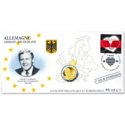 "L'enveloppe ""1er Jour"" d'émission 2 Euro Allemagne 2018 - Helmut Schmidt"