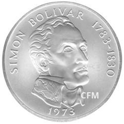 20 Balboas Argent Panama 1972-1976 - Simon Bolivar