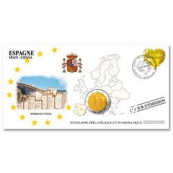 """L'enveloppe """"1er Jour"""" d'émission 2 EuroEspagne 2019 - Avila"""