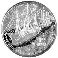 10 Euro Argent Malte BE 2019 - 150 ans du Canal de Suez