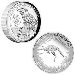 Lot des 2 monnaies Argent Australie BE 2016