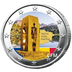 2 Euro Andorre 2018 colorisée - 25 ans de la Constitution