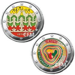 Lot des 2 x 2 Euro colorisées Lituanie 2018/2019