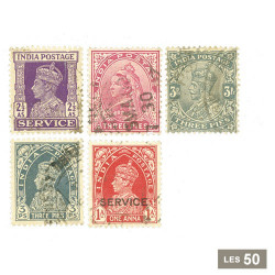 50 timbres Inde anglaise