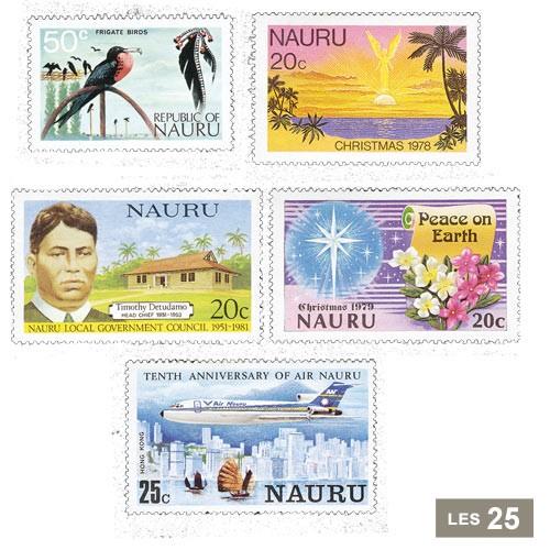 25 timbres Île Nauru