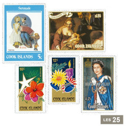 25 timbres Îles Cook