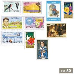 50 timbres Îles du Pacifique