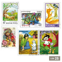 25 timbres Contes