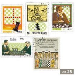 50 timbres Échecs