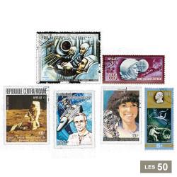 50 timbres Vols Habités