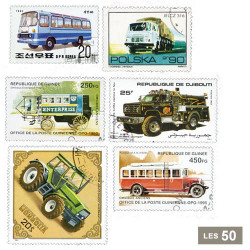 50 timbres Voitures utilitaires