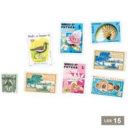 15 timbres Wallis et Futuna