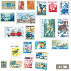 90 timbres Territoires Français