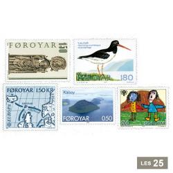 25 timbres Îles Feroé
