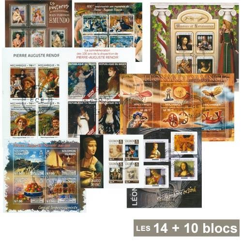 14 Blocs A. Renoir + 10 Blocs De Vinci OFFERTS