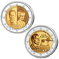 Lot des 2 x 2 Euro Luxembourg 2019