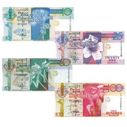 4 billets Seychelles 1998